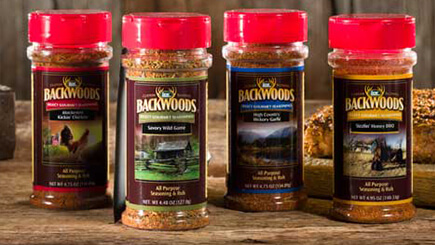 Various Backwoods Seasoning blends