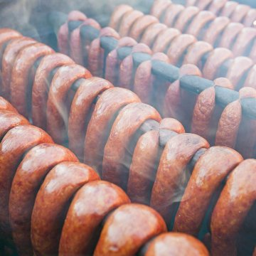 Sausages smoking
